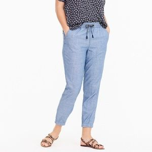 J CREW  Point sur seaside pant in chambray